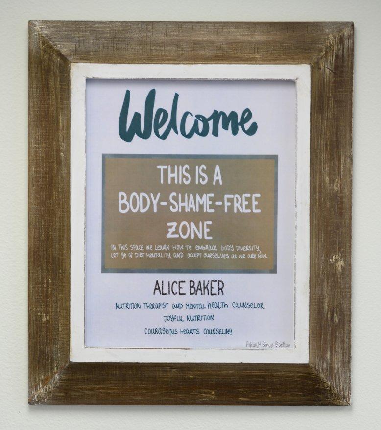 body shame free nutritionist